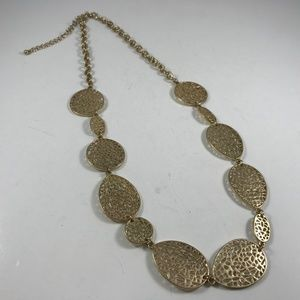 Vintage Gold Tone Necklace, Vintage Jewelry
